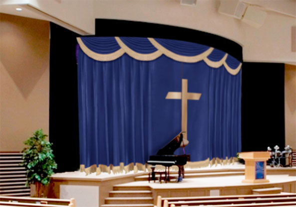 Church Curtains Decorations My Web Value