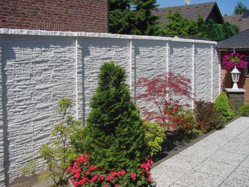 trennwand garten steinoptik sichtschutz garten stein mit modernen, Gartengestaltung