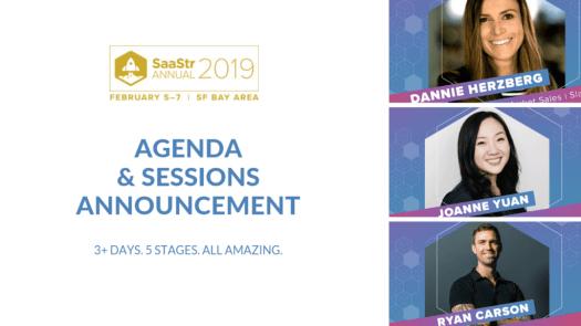 saastr annual 2019 agenda