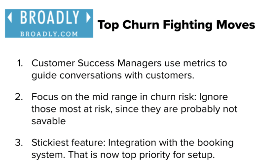 fight churn with data