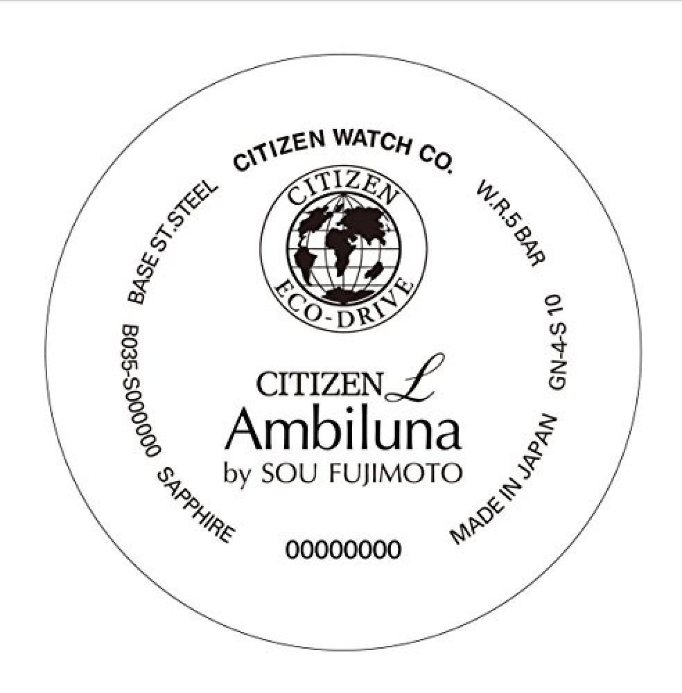 CITIZEN L Eco Drive Watch Ambiluna EW5506-51W Web manual