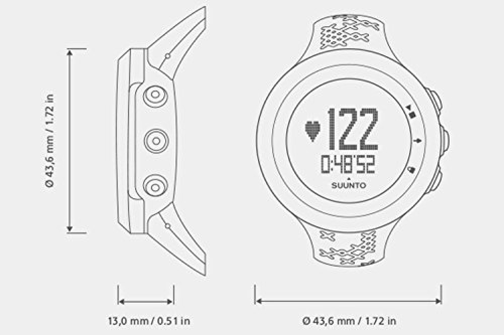 SUUNTO SS020233000 Watch M5 Silver Ping 3ATM heart rate