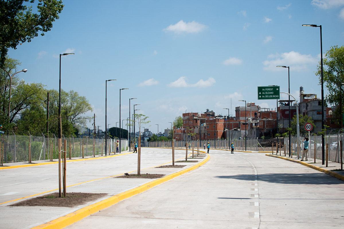 Abrió al tránsito la extensión de la avenida Triunvirato