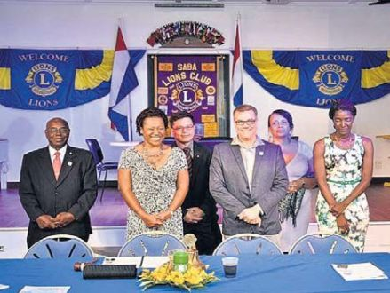 Lions Club's new Board of Directors. From left: Harold Levenston, Malusca Baker, Glenn Pileo, Carl Buncamper, Mary Thielman and Jessica Gumbs.