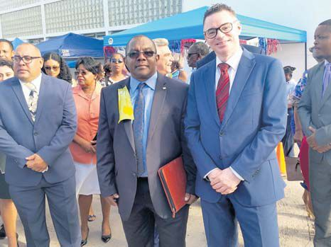 Commissioner of Culture Rolando Wilson (left) with Dutch Government Representative Gilbert Isabella.