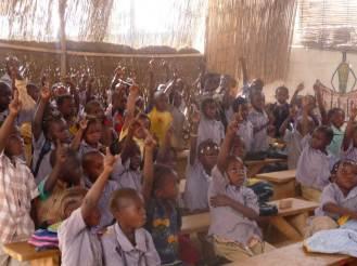 Salle de classe au centre Solifaso à Ouagadougou