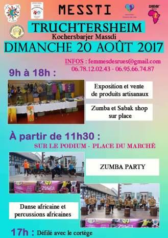 Truchtersheim fête le MESSTI, en partenariat avec les associations Beoneema Europe-Afrique et Sabak Afrofitness,