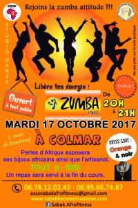 COURS DE ZUMBA/SHEKINI DANSE EN NOIR & ORANGE À COLMAR