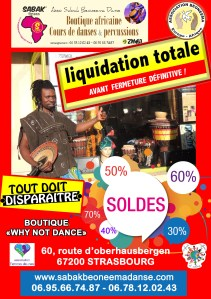 LIQUIDATION TOTALE DU MAGASIN
