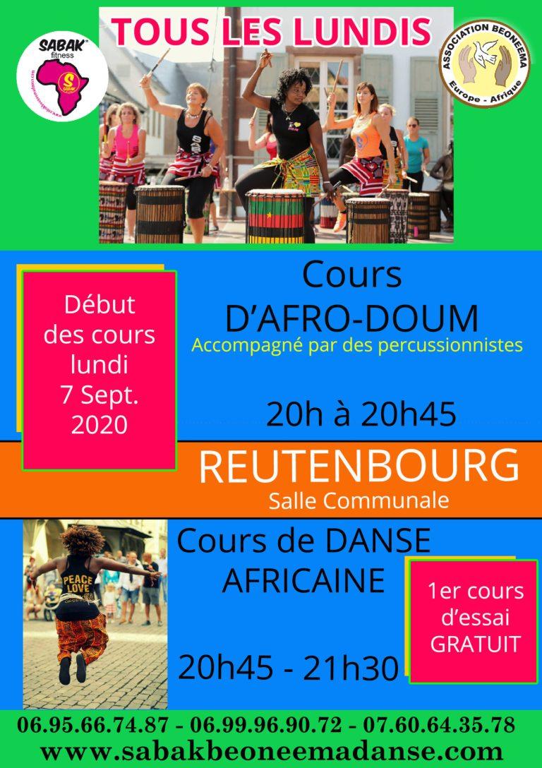 COURS D'AFRO-DOUM ET DE DANSE AFRICAINE À REUTENBOURG