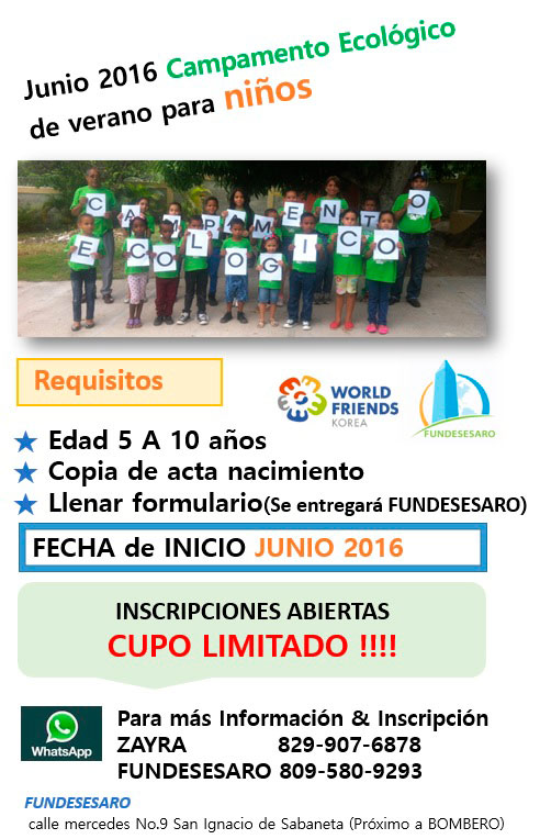 FUNDESESARO_Campamento_Ecologico_2016_1