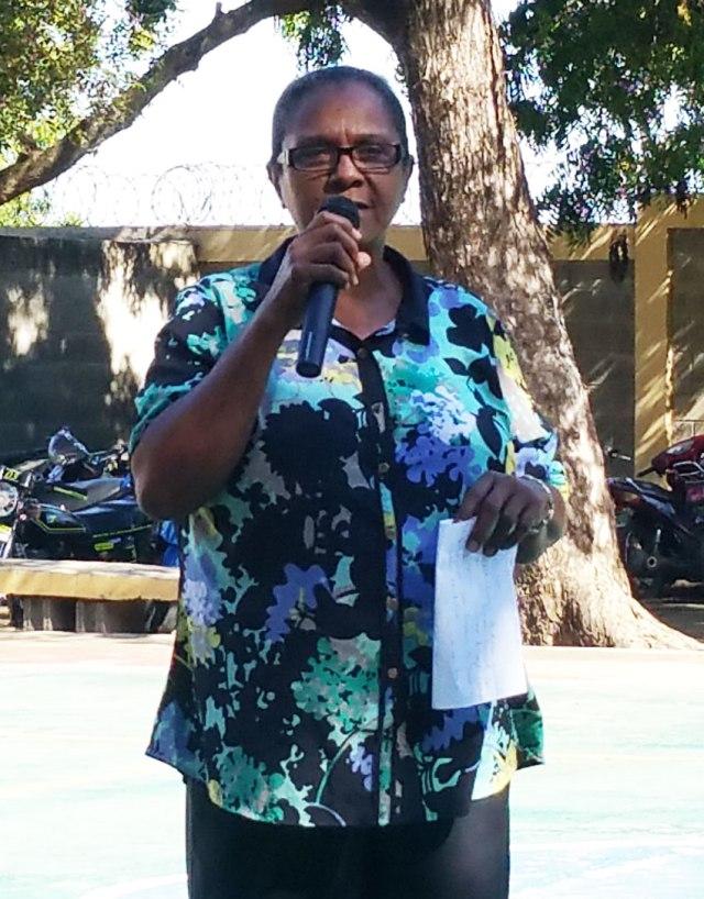 Profesora Angela Gerez - Directora del TV. Centro Las Caobas.
