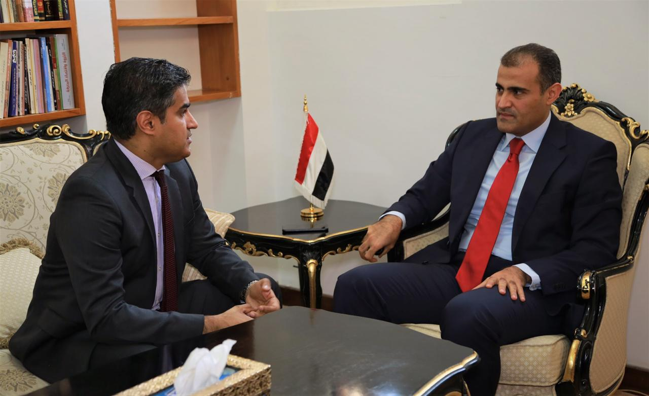 نائب وزير الخارجية يلتقي القائم بأعمال سفارة الولايات المتحدة لدى اليمن