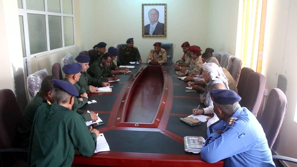 اللجنة الأمنية في أبين تناقش خطتها خلال أجازة عيد الأضحى المبارك