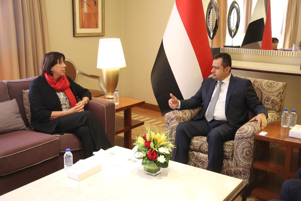 رئيس الوزراء يناقش مع سفيرة هولندا  المستجدات الجارية في اليمن