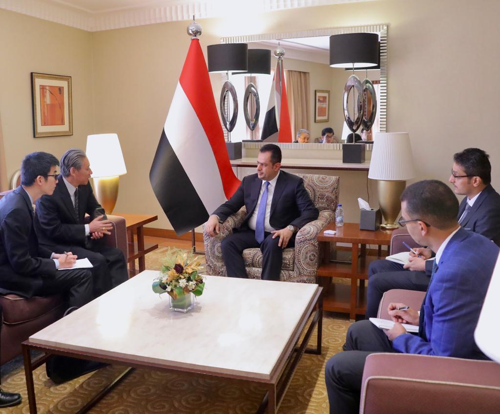 رئيس الوزراء يناقش مع السفير الصيني مستجدات الأوضاع  السفير الصيني لدى اليمن