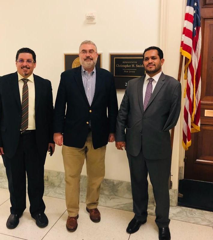 وزير حقوق الإنسان يستعرض مع عدد من مستشاري ومشرعي أعضاء الكونجرس الأمريكي الأوضاع الإنسانية في اليمن