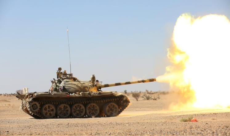 الجيش الوطني يستهدف مجاميع حوثية بمديرية المصلوب في الجوف