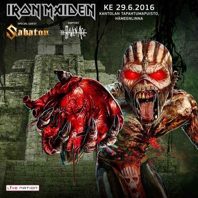 Sabaton to support Iron Maiden in Finland!