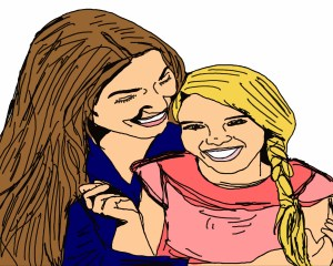 mom-and-daughter-illustration