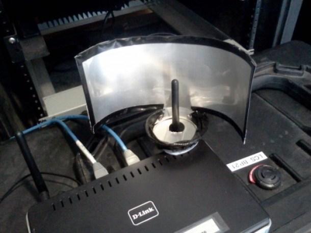 reflector lata antena borde con cinta