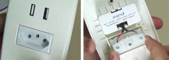 Instalação Residencial de Tomada USB
