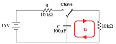 processo de descarga com o capacitor
