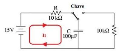 Processo de carga do capacitor ligado