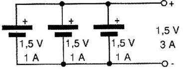 associação de circuito em paralelo - diagrama