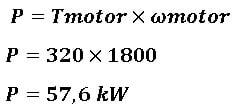Fórmula para calcular o torque e a potencia de um motor