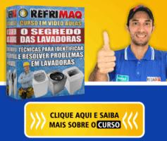 Curso Conserto e Manutenção em Maquina de Lavar Roupa -100% Online