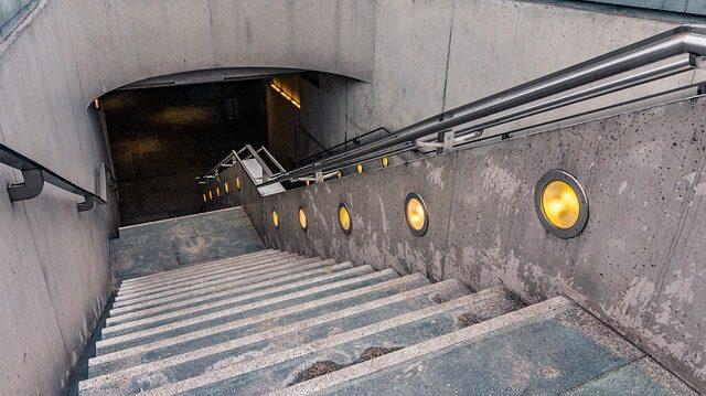 iluminação na escada