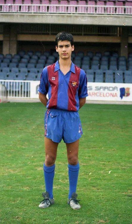 Josep Guardiola - no futebol de formação do Barcelona