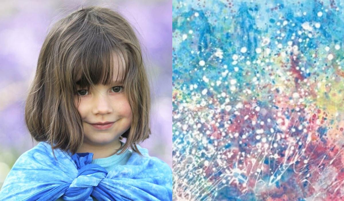 Conheça a história de Iris Grace a menina autista que fascinou o mundo aos 5 anos com belas pinturas