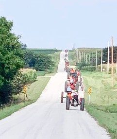 Thirty-six tractors participate in the Tractor Cruise as part of Morrill Days.