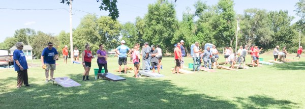 Forty teams compete in the Cornhole Tournament during Morrill Days.