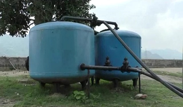 filters equiped to supply water of akhelao tank of kalka talab in sirohi city