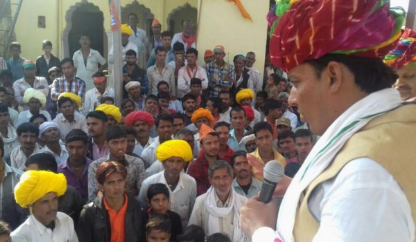 ajmer by-election 2018 : bjp candidate ramswaroop lamba poll campaign in masuda ajmer