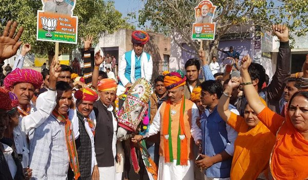 ajmer by-election 2018 : bjp candidate ramswaroop lamba poll campaign in kishangarh