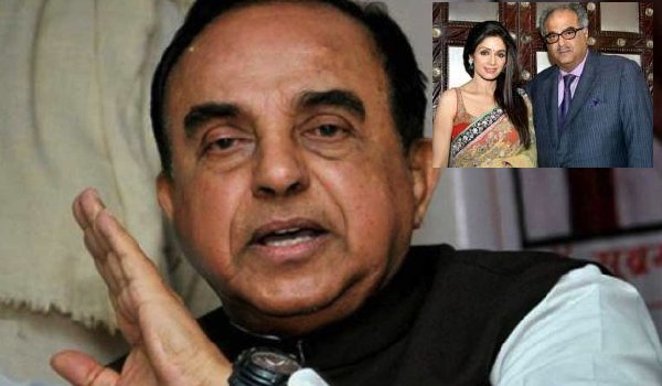 BJP's Subramanian Swamy calls Sridevi's death a probable murder, says alcohol could have been force-fed