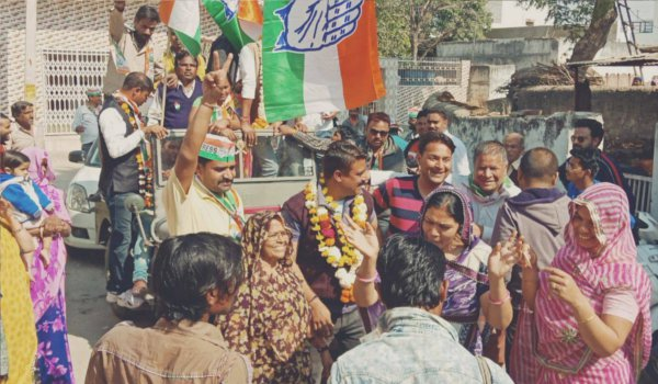 ajmer by-election result 2018 : ward 36 congress workers celebrates victory