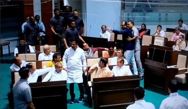 Ruckus in Gujarat Assembly