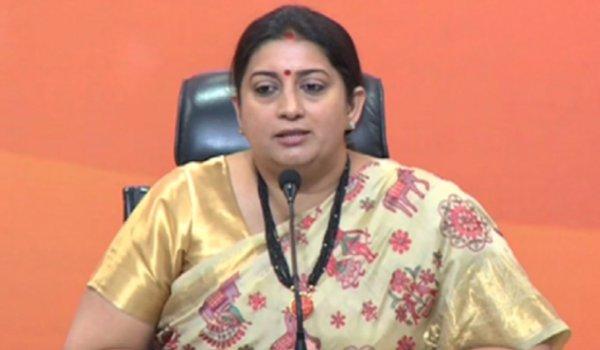 Congress raises questions on working of Smriti Irani