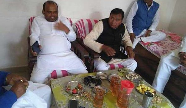 bihar State education minister photo viral with liquor filled glass but he denies