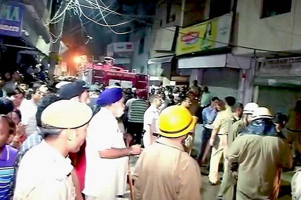 An LPG cylinder explosion in Lajpat Nagar Central Market in capital