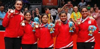 CWG 2018 day 4 : India with 3rd gold on Super Sunday, indian women defeat singapore in table tennis
