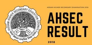 AHSEC Result 2018: Assam HS 12th results released