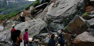Manali-Leh Highway Blocked By Landslide