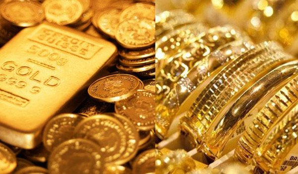 Gold falls to Rs 200, silver drops by Rs 350