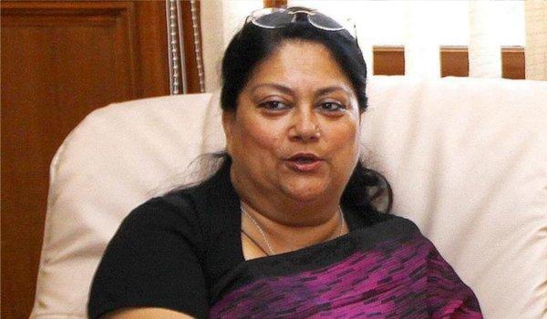 chief minister vasundhara raje ill in udaipur